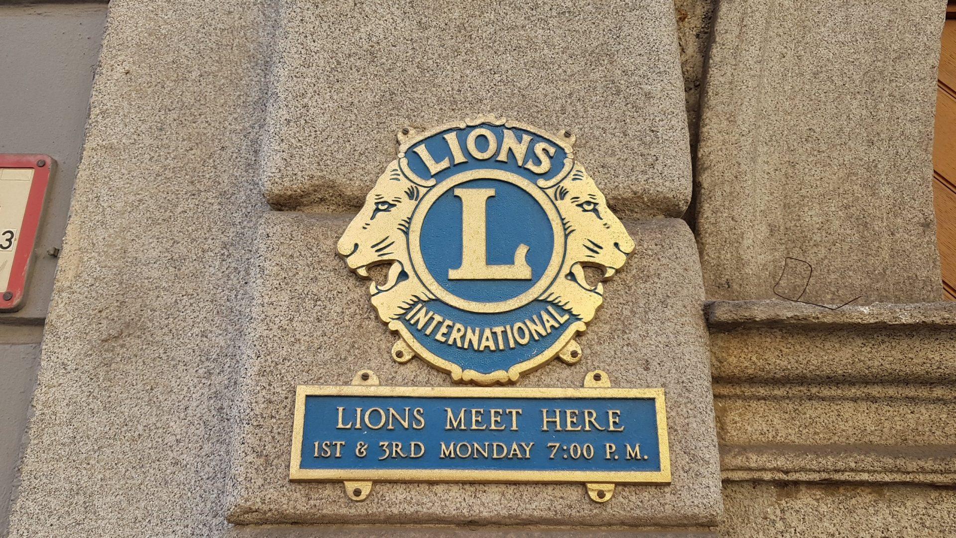Благородные и благотворительные львы или Lions Club в Австрии.