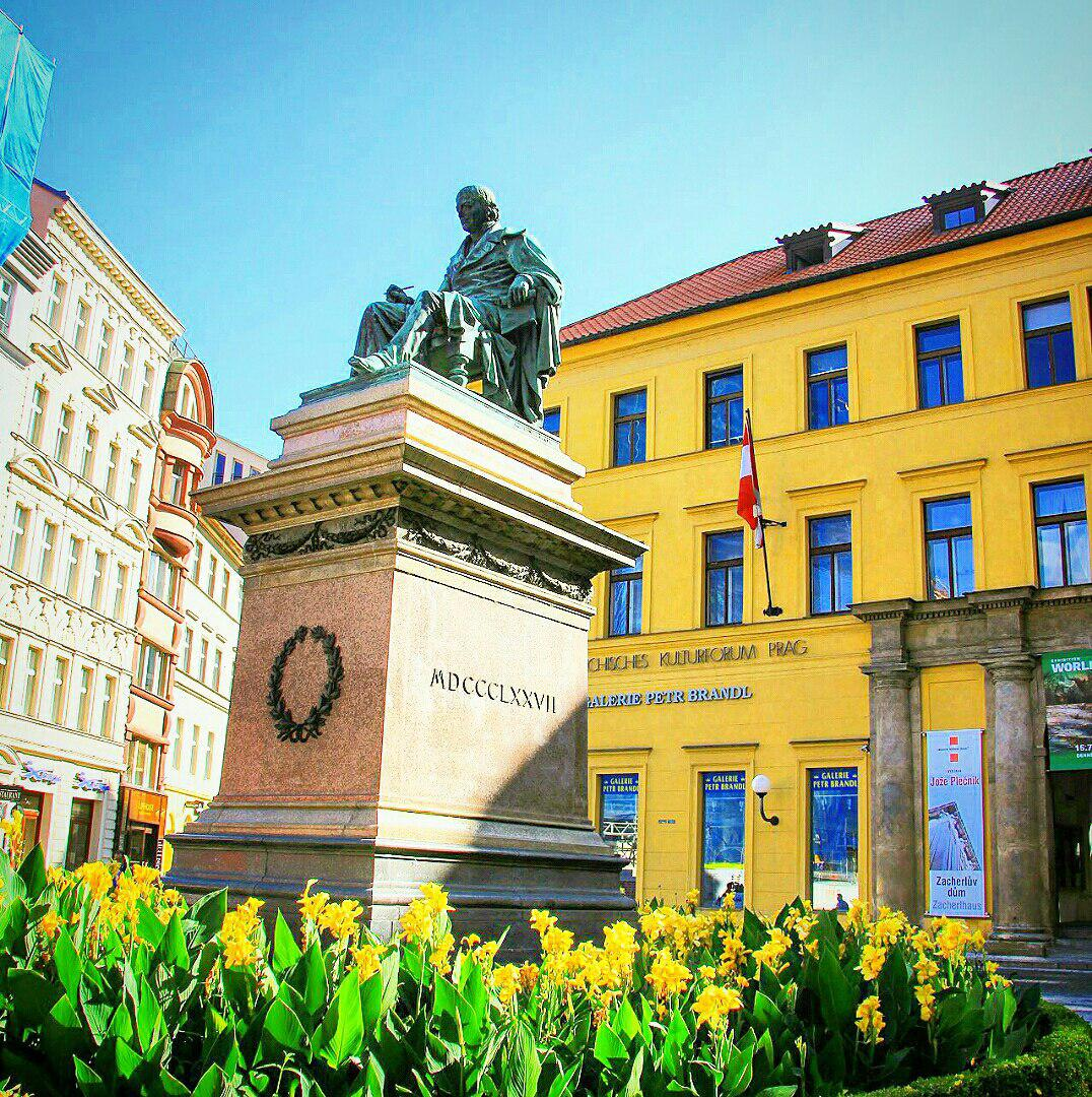 Памятник Йозефу Юнгману, Прага, Чехия. Июль, 2017