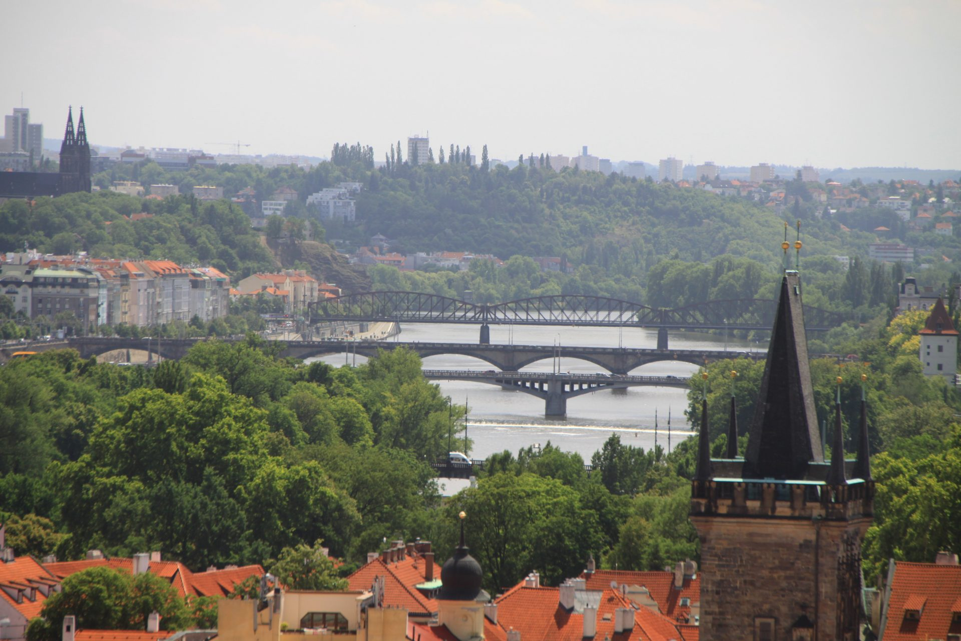 Река Влтава, Прага, Чехия. Июль, 2012