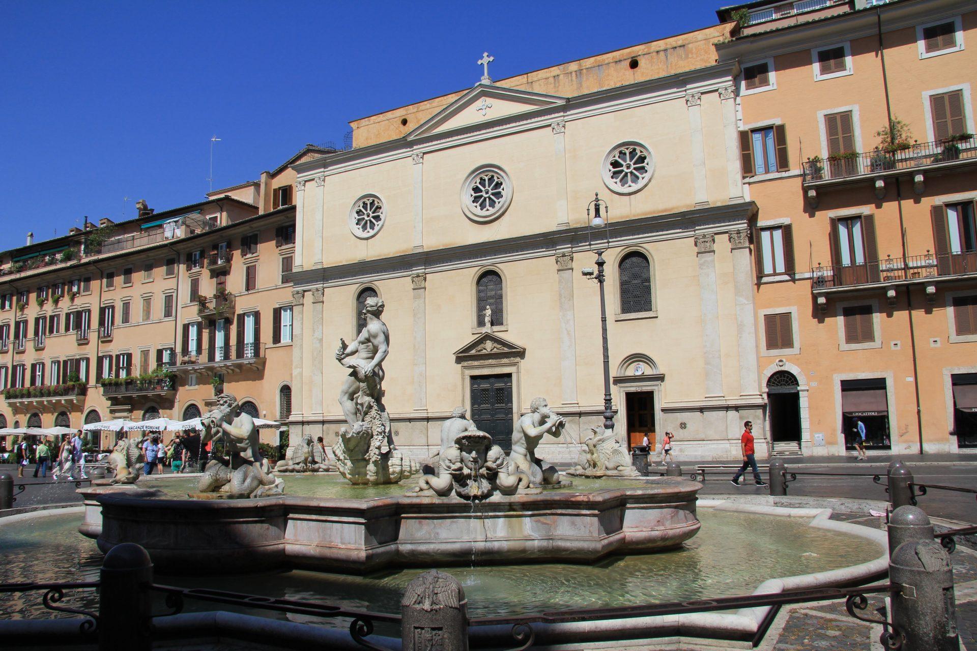 Пьяцца Навона, Рим, Италия. Июль, 2012