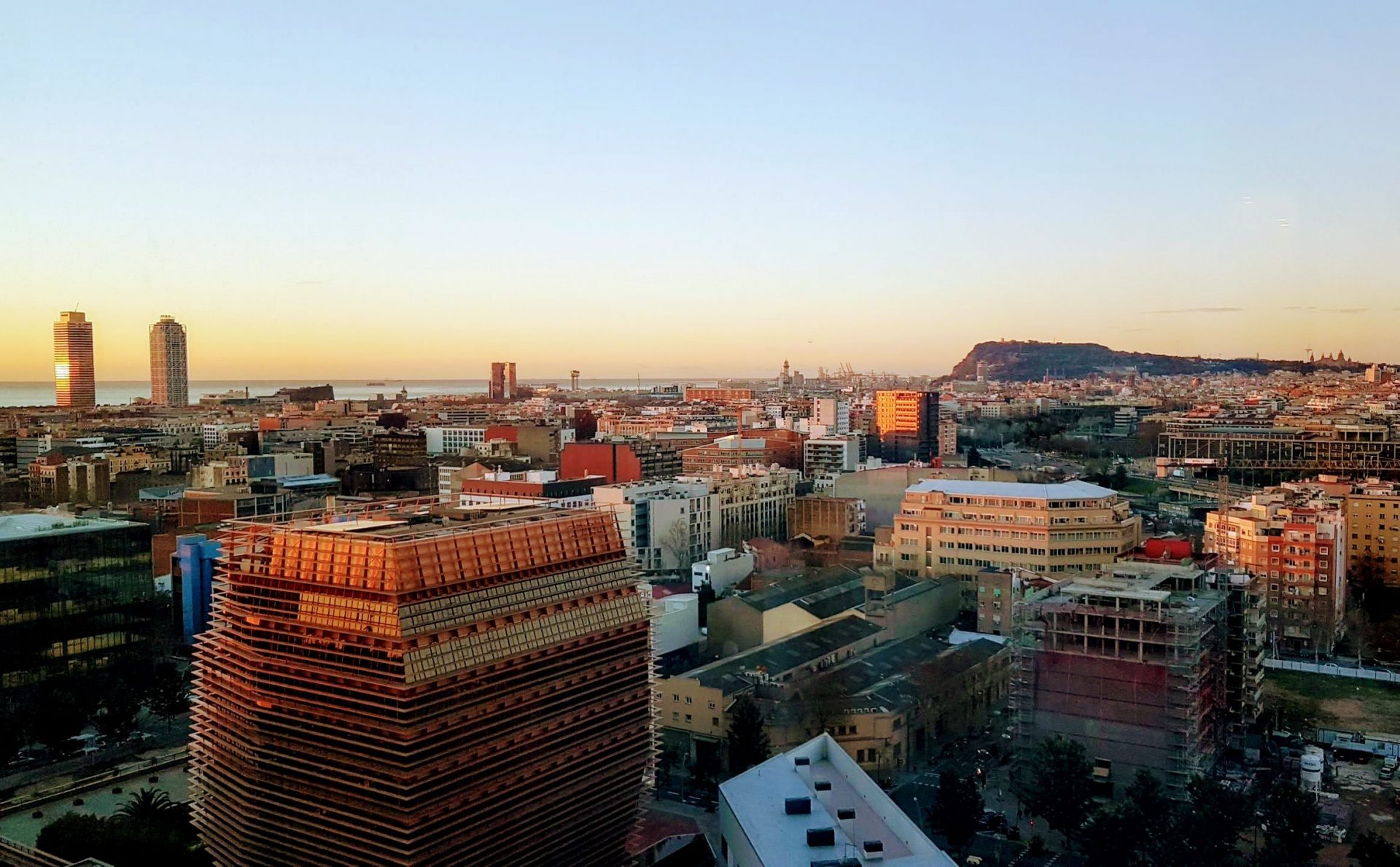 Вид на город, Барселона, Испания, Январь, 2018