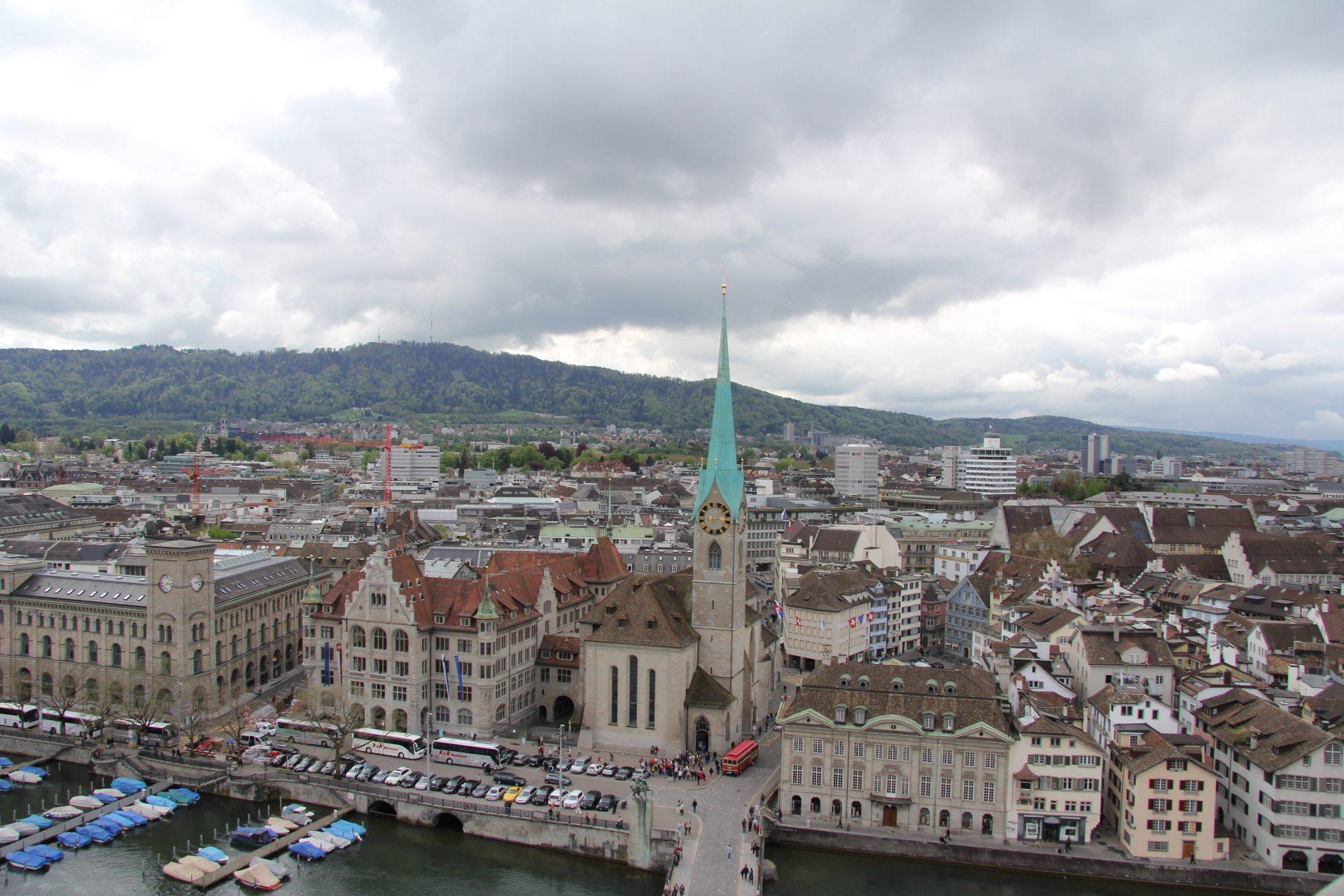 Фраумюнстер, Цюрих, Швейцария. Апрель, 2013