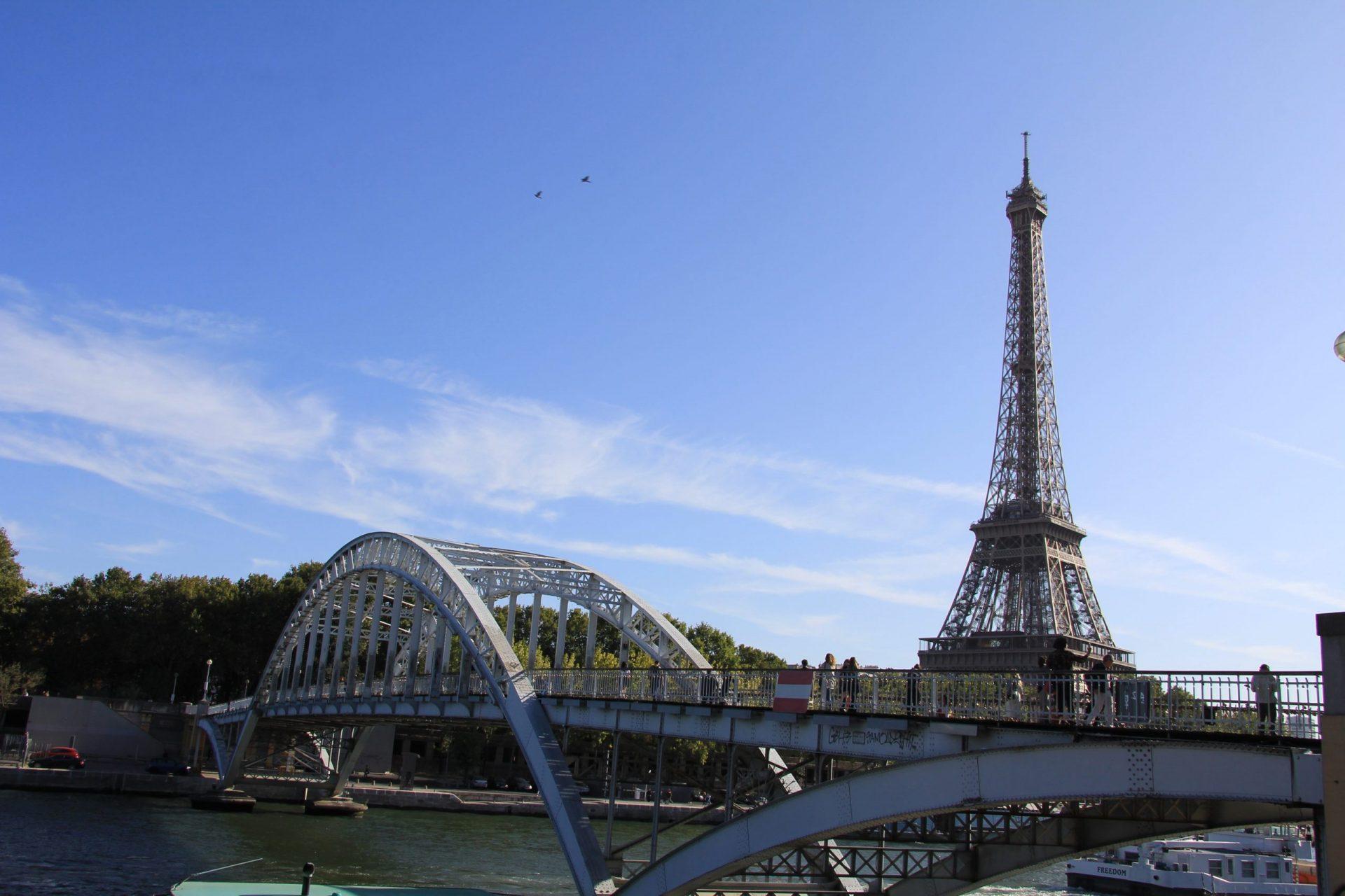 Мост Дебийи, Париж, Франция. Сентябрь, 2019