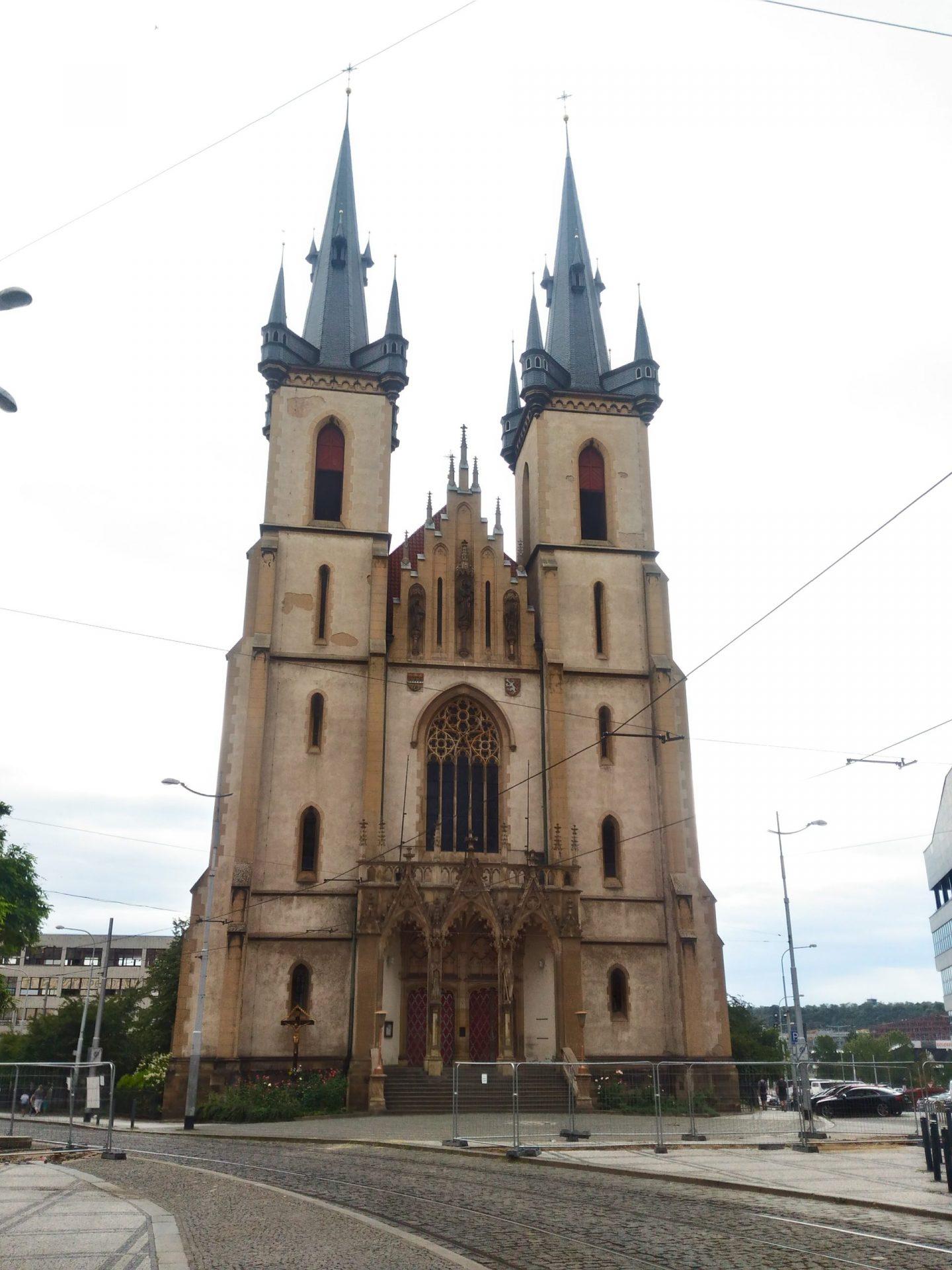 Костёл Святого Антония Падуанского, Прага, Чехия. Август, 2018