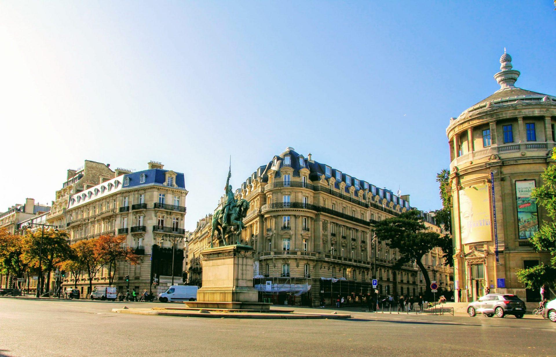Памятник Вашингтону перед Музеем Гиме, Париж, Франция. Сентябрь, 2019