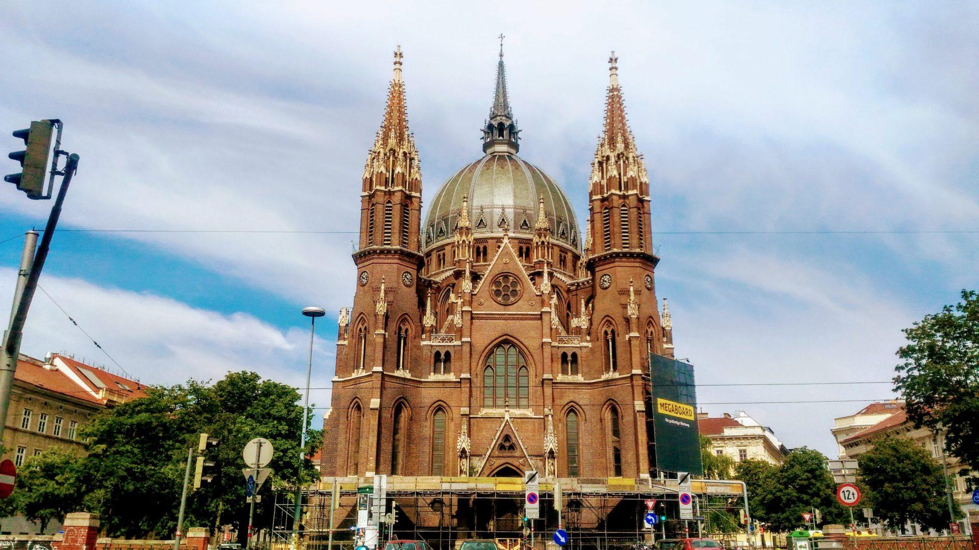 Церковь Девы Марии Победительницы, Вена, Австрия. Май, 2020