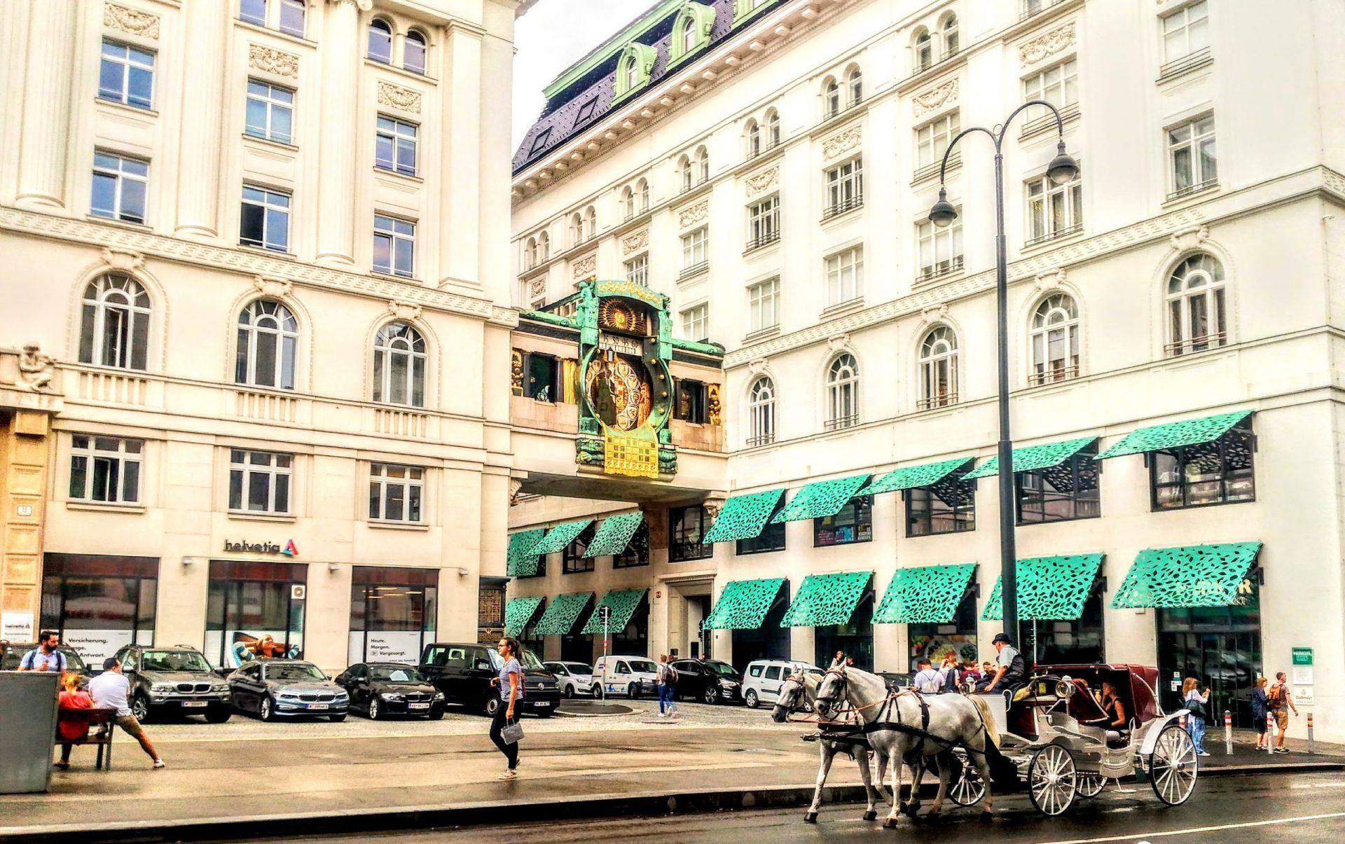 Часы «Анкер», Вена, Австрия. Август, 2018