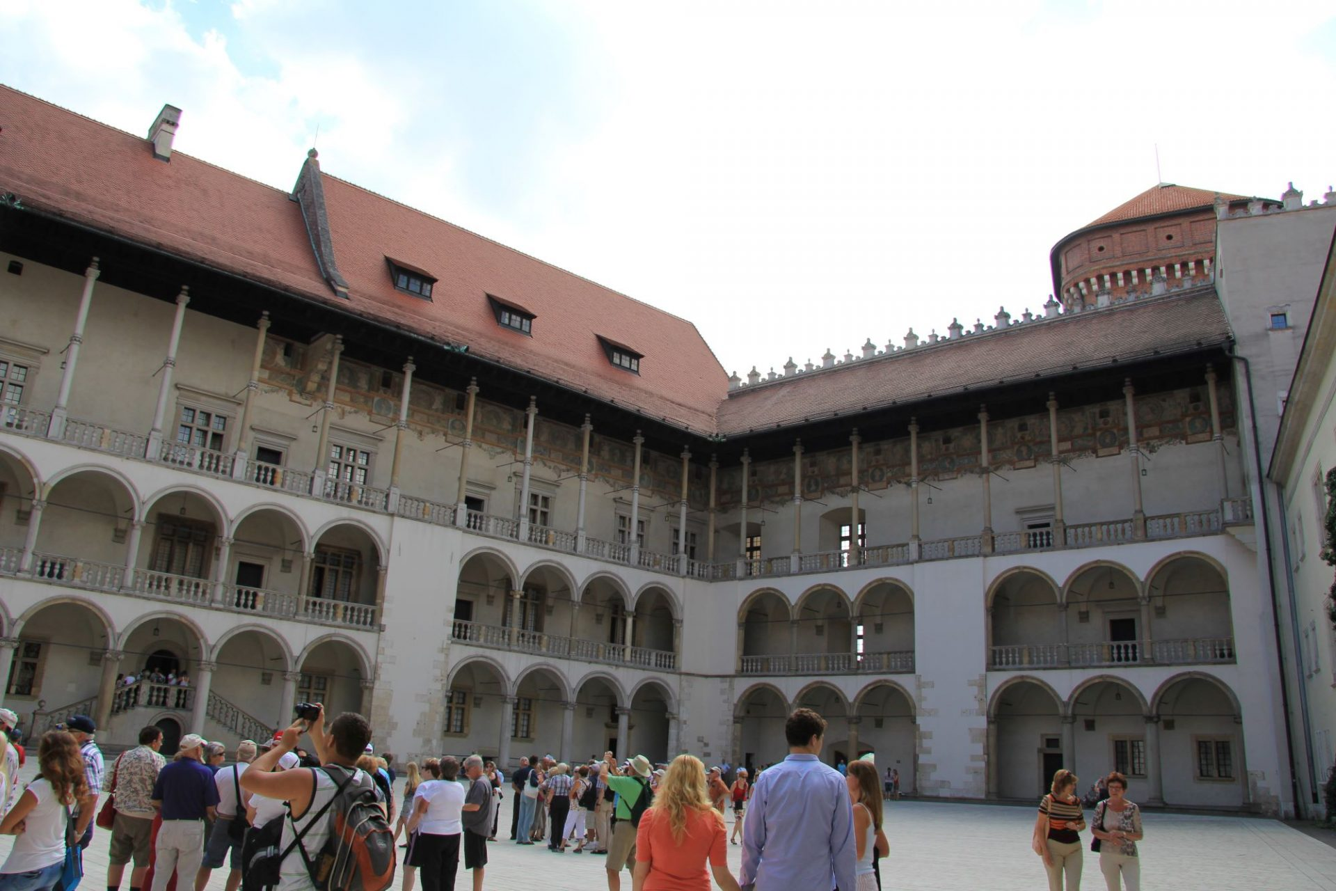 Вавельский замок, Краков, Польша. Июль, 2013
