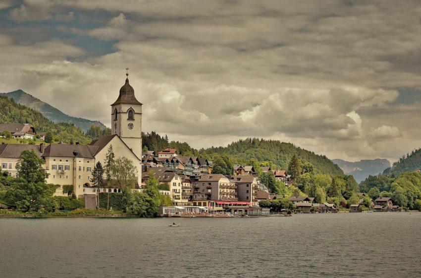 История австрийского городка Санкт-Вольфганг в Зальцкаммергуте